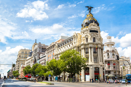 Madrid in a beautiful summer day, Spain