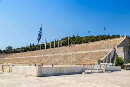 ATHENS, GREECE - JULY 19, 2015: The Panathenaic Stadium in a summer day in Athens, Greece