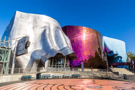 SEATTLE, USA - MARCH 29, 2020: Museum of Pop Culture in a sunny day, Seattle, Washington, USA