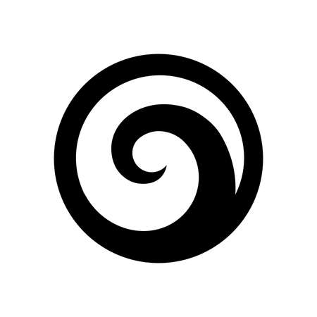 Illustrazione per Koru, Spiral shape based on silver fern frond, Maori symbol - Immagini Royalty Free