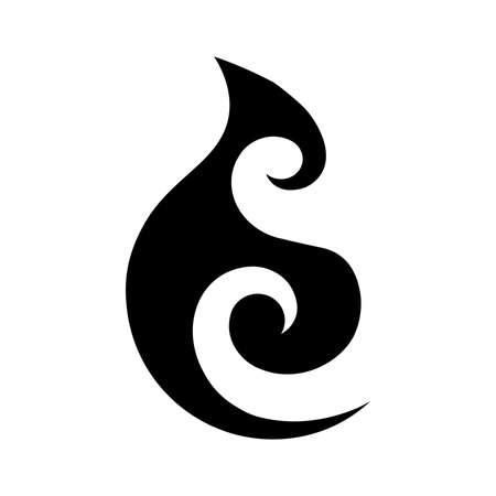 Ilustración de Moana. Maori sea symbol - Imagen libre de derechos