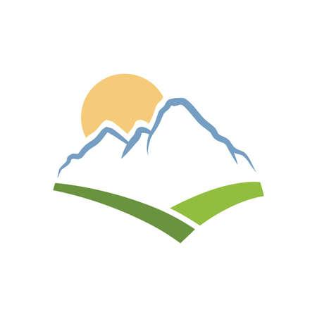 Illustration pour beautiful mountain landscape, vector graphic design element - image libre de droit