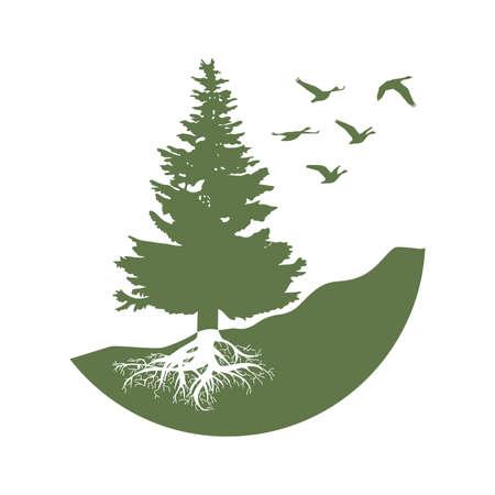 Illustration pour pine tree, graphiv design element - image libre de droit