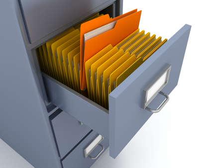 Photo pour Bookshelf for documents . 3d render - image libre de droit