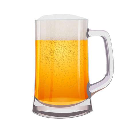 Illustration pour Excellent Isolated mug of beer. Vector illustration - image libre de droit