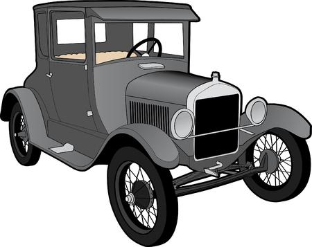 Illustration of a Ford Model T.