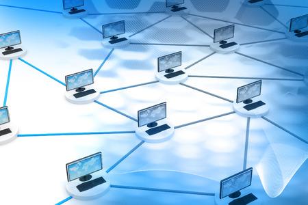 Photo pour Computer network and internet technology - image libre de droit