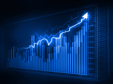 Stock market graphs, business chart