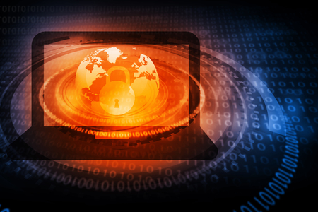 Photo pour Digital background of Internet Security - image libre de droit