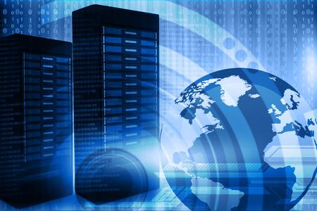 Foto de Network server with binary stream - Imagen libre de derechos