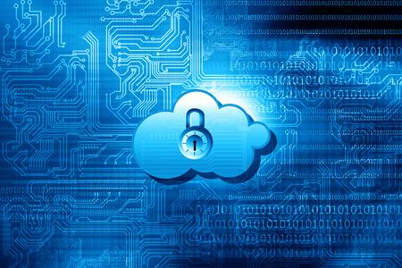 Photo pour Cloud computing Security Concept - image libre de droit