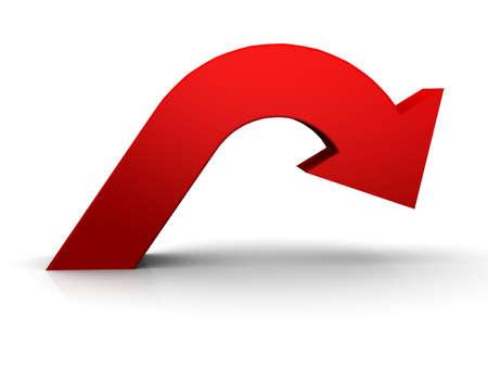 Photo pour Red arrow - image libre de droit