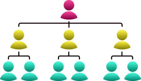 Ilustración de This is an illustration of organizational structure table set. - Imagen libre de derechos