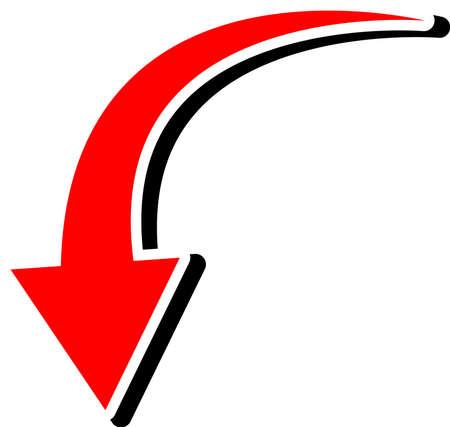 Ilustración de This is an illustration of a curved arrow. - Imagen libre de derechos