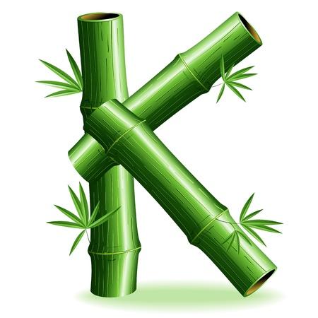 Bamboo Logo Letter Sign K