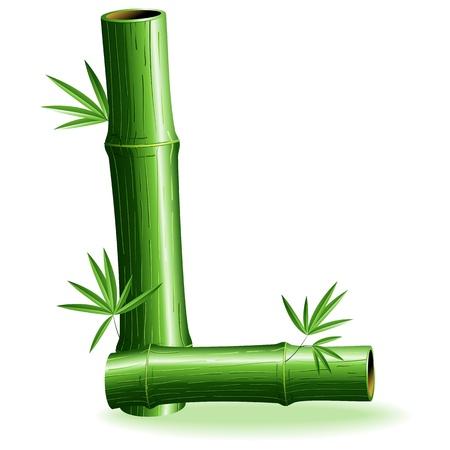 Bamboo Logo Letter Sign L