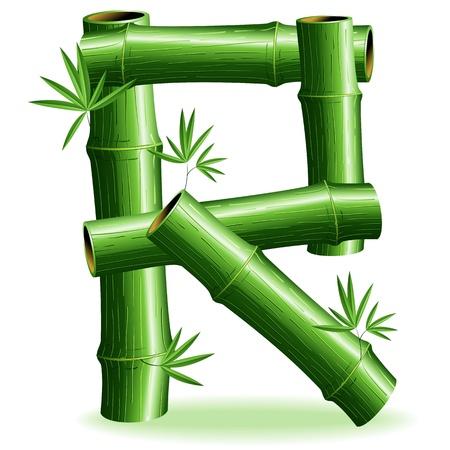Bamboo Logo Letter Sign R