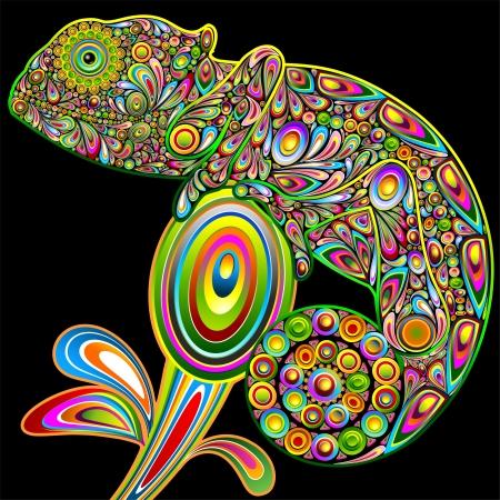 Chameleon Psychedelic Art Design