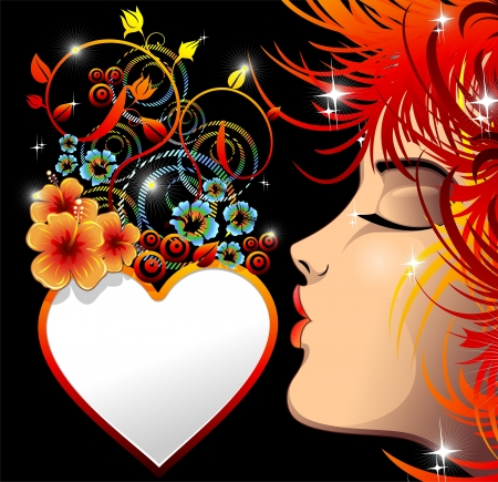 Be my Valentine Love Heart Kiss