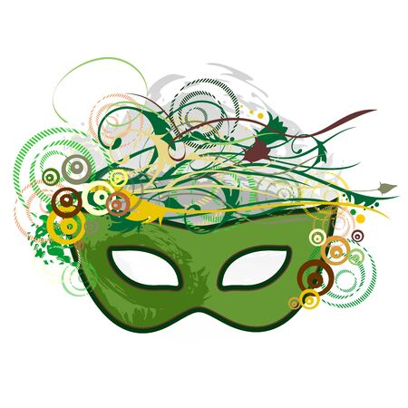 Illustration pour Carnival Purim Festival Mask Pop Art Abstract Nature - image libre de droit