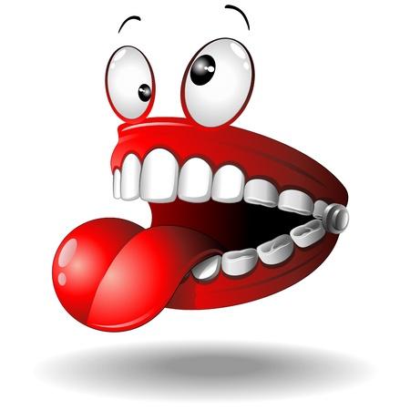 Funny False Teeth Cartoon