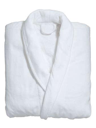 soft white bathrobe