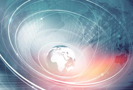 Foto de Global Internet Connection Background Through the Whole World - Imagen libre de derechos