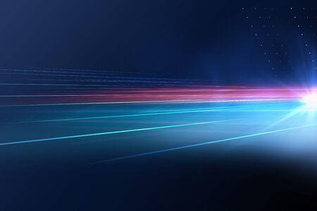Foto de Digital abstract technology background with light rays and sun flare - Imagen libre de derechos