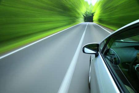 Foto de Driving  into forest  - Imagen libre de derechos