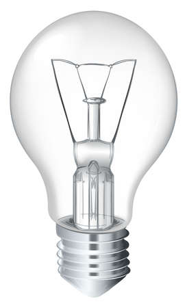 Illustration of a light bulb on white