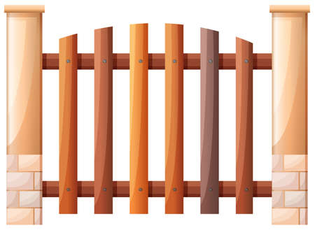 Illustration of a vertical fence on a white background