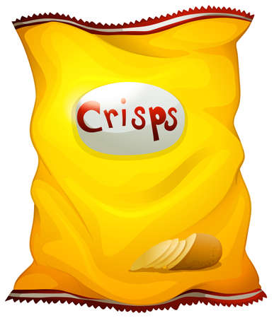 Illustration of a pack of crisps on a white background