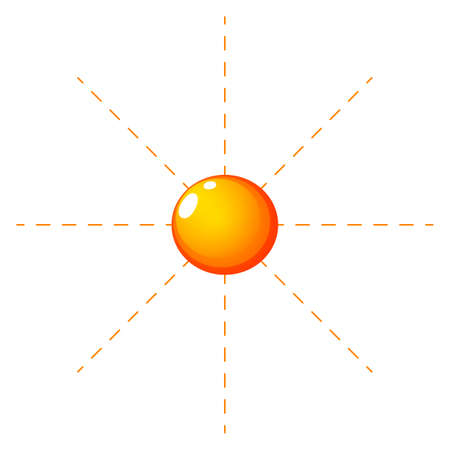Illustration of a sunny climate on a white background