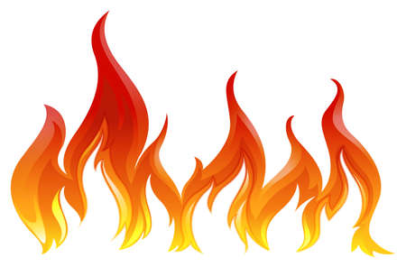 Illustration of a fire on a white background