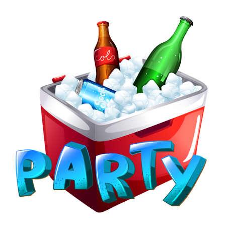 Illustration of a party celebration on a white background