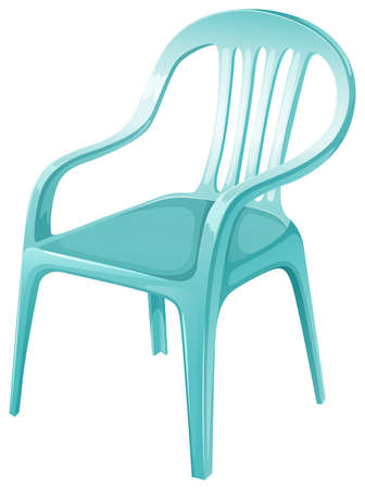 A plastic chair furniture on a white background