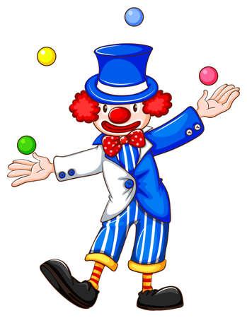 Flashcard of a clown jiggling