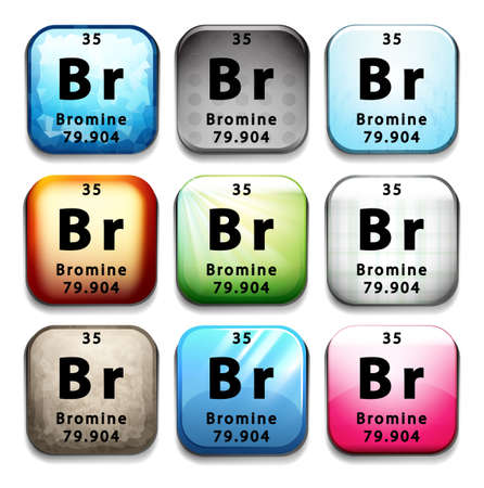 Illustration of an element bromine