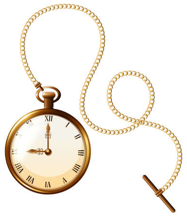 Close up luxury design of pocket watch