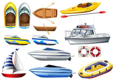 Ilustración de Boats of varying sizes illustration - Imagen libre de derechos