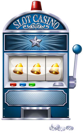 Vintage design of slot machine