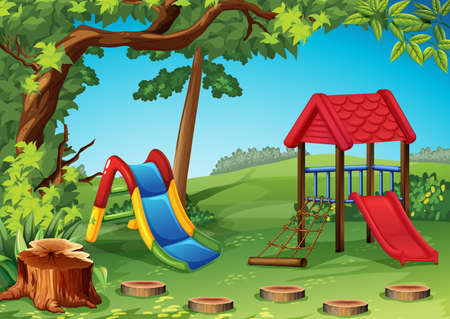 Playground in the park illustration