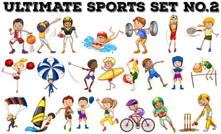 Various kind of sports illustration