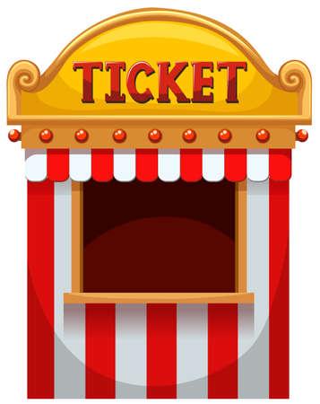 Illustration pour Ticket booth at the carnival illustration - image libre de droit