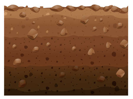 Illustration for Different layers of soil illustration - Royalty Free Image