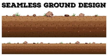 Illustration for Seamless ground surface design illustration - Royalty Free Image