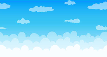 Seamless clouds floating in the sky illustration