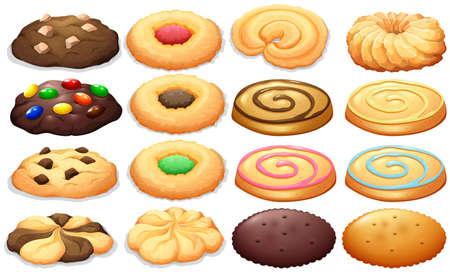 Ilustración de Different kind of cookies illustration - Imagen libre de derechos