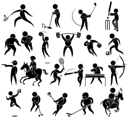 Icons for different kind of sports illustration