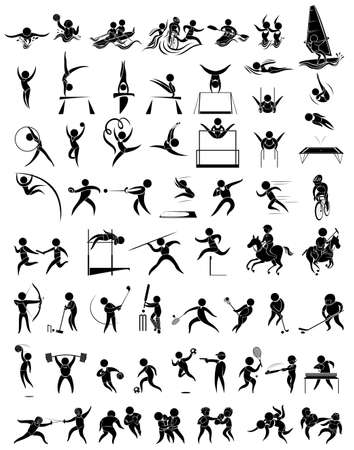 Icon design for many type of sports illustration